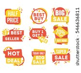 sale and discount badge set... | Shutterstock .eps vector #546636811