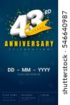 43 years anniversary invitation ... | Shutterstock .eps vector #546640987