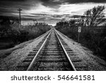 railroad along the trinity... | Shutterstock . vector #546641581