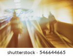 passengers on the escalator and ... | Shutterstock . vector #546644665
