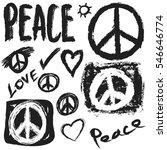 retro design of peace  love and ...   Shutterstock .eps vector #546646774