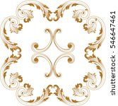 golden vintage baroque ornament ... | Shutterstock .eps vector #546647461