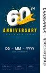 60 years anniversary invitation ... | Shutterstock .eps vector #546648991