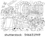 the snow white and seven dwarfs.... | Shutterstock . vector #546651949