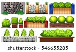 different design of wall and... | Shutterstock .eps vector #546655285