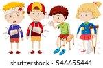 boys and girl with broken bones ... | Shutterstock .eps vector #546655441