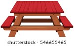 picnic table painted in red... | Shutterstock .eps vector #546655465