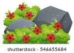 red hibiscus flowers in the... | Shutterstock .eps vector #546655684