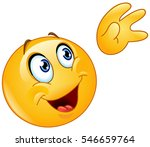 emoticon waving up to the sky | Shutterstock .eps vector #546659764