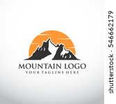 mountain logo template with... | Shutterstock .eps vector #546662179