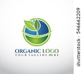 nature logo template. blue and... | Shutterstock .eps vector #546662209