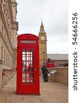 famous red telephone booth in...
