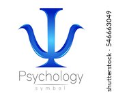 modern logo of psychology. psi. ... | Shutterstock .eps vector #546663049