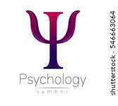 modern logo of psychology. psi. ... | Shutterstock .eps vector #546663064