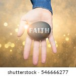 hand offering faith | Shutterstock . vector #546666277
