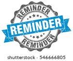 reminder. stamp. sticker. seal. ...   Shutterstock .eps vector #546666805