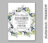 anemone wedding invitation card ... | Shutterstock .eps vector #546668149