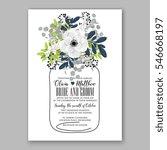 anemone wedding invitation card ... | Shutterstock .eps vector #546668197