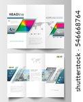 tri fold brochure business... | Shutterstock .eps vector #546668764