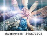 teamwork togetherness... | Shutterstock . vector #546671905