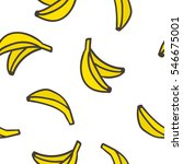 cute hand drawn bananas on a... | Shutterstock .eps vector #546675001