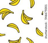 cute hand drawn bananas on a... | Shutterstock .eps vector #546675001