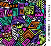 multicolor vector seamless... | Shutterstock .eps vector #546675331