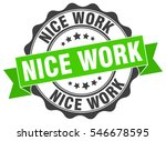 nice work. stamp. sticker. seal.... | Shutterstock .eps vector #546678595