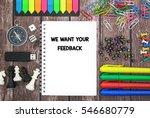 we want your feedback | Shutterstock . vector #546680779