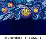Vector Pattern. Night Sky With...
