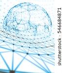 futuristic virtual technology... | Shutterstock . vector #546684871