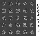 thin line poker icons. vector... | Shutterstock .eps vector #546685075
