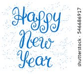 happy new year lettering on red ... | Shutterstock .eps vector #546686917