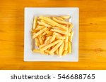 top view french fires on white... | Shutterstock . vector #546688765