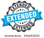 extended. stamp. sticker. seal. ... | Shutterstock .eps vector #546692035