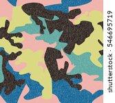 camouflage pattern background... | Shutterstock .eps vector #546695719