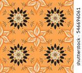 beige background. flower and... | Shutterstock . vector #546696061