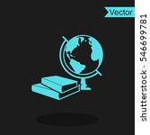 books and globe vector icon.... | Shutterstock .eps vector #546699781
