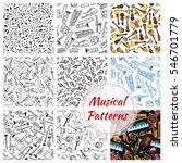 musical instruments seamless... | Shutterstock .eps vector #546701779