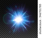 flash burst of star light with... | Shutterstock .eps vector #546701785