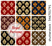 Royal Patterns Set Of Heraldic...