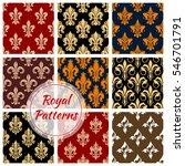 Royal Patterns Set Of Heraldic...