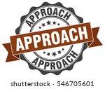 approach. stamp. sticker. seal. ... | Shutterstock .eps vector #546705601
