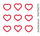 vector heart icons and design... | Shutterstock .eps vector #546706375