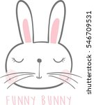 Cute Bunny Illustration With...