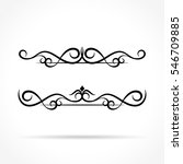 illustration of ornaments... | Shutterstock .eps vector #546709885