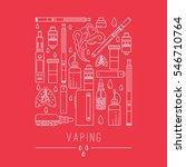 modern line style vaping... | Shutterstock .eps vector #546710764