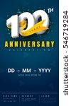 100 years anniversary...   Shutterstock .eps vector #546719284