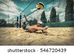 beach volleyball player in... | Shutterstock . vector #546720439