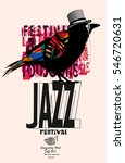 black raven jazz poster  ... | Shutterstock .eps vector #546720631